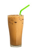 Ice milk coffee, famous drink in Thailand,Isolated on white Royalty Free Stock Photos
