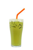 Ice milk green tea famous drink Royalty Free Stock Image