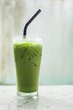 Ice milk green tea, famous drink Royalty Free Stock Photos