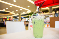 Ice milk green tea Stock Image