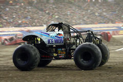 Ice Monster Monster Jam 2011. Ice Monster Truck at the Toronto Ontario Monster Jam January 2011 at the Rogers Center. Truck driven by Chris Lagana Royalty Free Stock Photo
