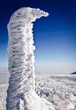 Ice monument on mountain top Stock Photos