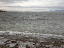 Ice on Mountain Bay Royalty Free Stock Photos