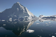Ice mountain in Greenland N/W. Royalty Free Stock Photography