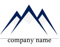 Ice mountain logo Royalty Free Stock Photos