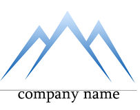 Ice mountain logo Stock Photography