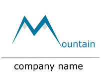 Ice mountain logo Royalty Free Stock Photo