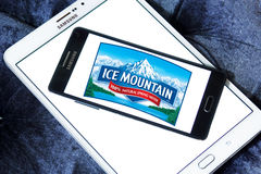 Ice mountain mineral water company logo. Logo of ice mountain mineral water company on samsung mobile on samsung tablet royalty free stock photos