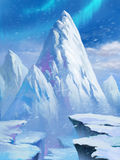 Ice Mountain in North Pole. Scene Design Royalty Free Stock Photography