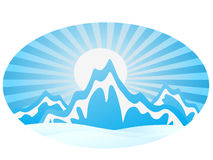 Ice Mountain Range Royalty Free Stock Photo