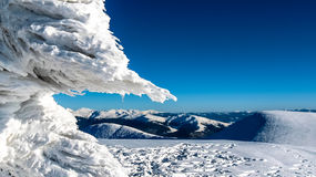Ice on mountain top Royalty Free Stock Photo
