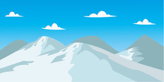 Ice mountain. View and landscape in ice mountain Royalty Free Stock Photography