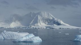 Ice mountains and Icebergs in Antarctica royalty free stock photos