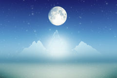 Ice mountains moon small Royalty Free Stock Images