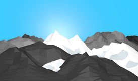 Ice mountains Stock Photo