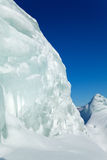 Ice mountains in siberia Royalty Free Stock Photo