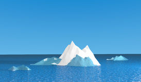 Ice mountian with blue ocean Stock Images