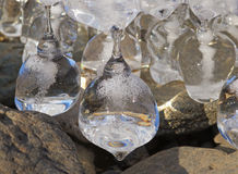 Ice natural sculpture Royalty Free Stock Images