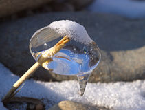 Ice natural sculpture Royalty Free Stock Photography