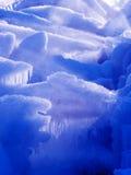 Ice near waterfall Stock Photography