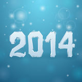 2014 Ice New Year background. Illustration stock illustration