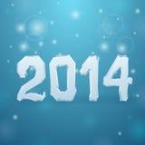 2014 Ice New Year background. Illustration Stock Image