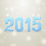2015 Ice New Year gray background Stock Images