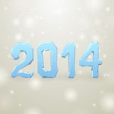 2014 Ice New Year gray background Stock Images