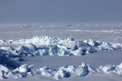 Ice at the North Pole in 2016 look exactly Royalty Free Stock Image