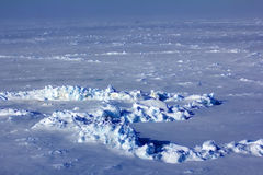 Ice at the North Pole in 2016 look exactly Royalty Free Stock Photo