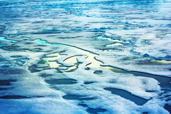 Ice at the North pole and near in 2016 Royalty Free Stock Photos