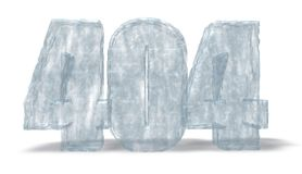 Ice number 404 Stock Image