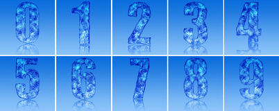Ice Numbers Royalty Free Stock Photography