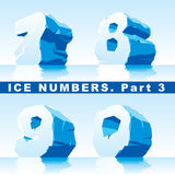 Ice numbers Part 3 Stock Photo