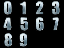 Ice numbes 0 1 2 3 4 5 6 7 8 9. Iced numbers isolated with clipping path Stock Images