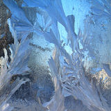 Ice On Window Royalty Free Stock Photography
