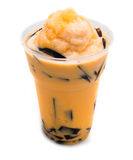 Ice orange milk tea Royalty Free Stock Photo