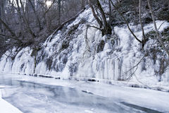 Ice over river Stock Image