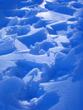 Ice over snow. Broken ice over the snow royalty free stock photo