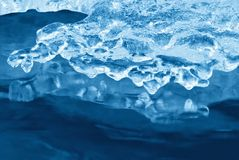 Ice over the water Royalty Free Stock Photography