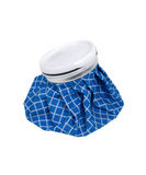 Ice Pack. Old fashioned blue checkered ice pack for first aid uses - path included royalty free stock photography