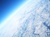 Ice Pack. Aerial view of ice pack royalty free stock image