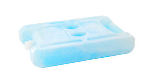 Ice pack isolated on white Stock Image