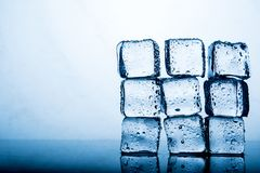 Ice pack The result of the water is before the ice stacked sever royalty free stock photos