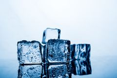 Ice pack The result of the water is before the ice stacked sever stock images