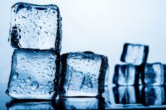 Ice pack The result of the water is before the ice stacked sever royalty free stock images