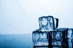 Ice pack The result of the water is before the ice stacked sever royalty free stock photography