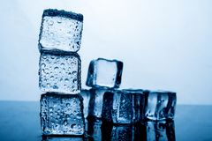 Ice pack The result of the water is before the ice stacked sever stock photos