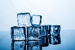 Ice pack The result of the water is before the ice stacked sever royalty free stock photo