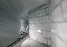Ice Palace of Jungfraujoch Station stock image